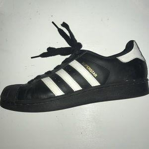Black Adidas Superstar Sneakers